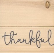 Thankful, Rustic Magnet
