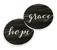 Grace and Hope, Car Coasters, Set of 2