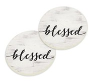 Blessed, Car Coasters, Set of 2