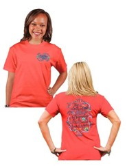 She is Clothed In Strength and Dignity Shirt, Coral,  Medium
