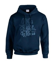 Not To Judge Hooded Sweatshirt, Navy, Large