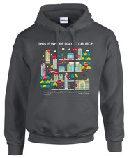 My Church Hooded Sweatshirt, Gray, Large