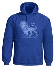 Roaring Lion Hooded Sweatshirt, Blue, Medium