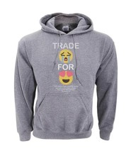 Trade For Joy Hooded Sweatshirt, Gray, Medium