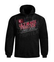 Ultimate Fighter Hooded Sweatshirt, Black, Medium