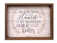 They Broke Bread In Their Homes, Farmhouse Tray