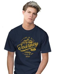 Life is a Journey Shirt, Navy Blue, 4X