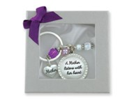 Mother Listens With Her Heart Keyring