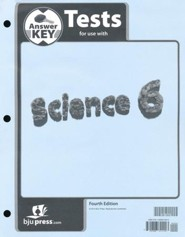 Science 6 Test Key, 4th Edition