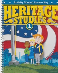 BJU Heritage Studies Grade 1 Activity Manual Answer Key, 3rd Ed.