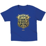 The Lord is My Strength and Shield Shirt, Blue, Toddler 5