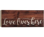 Love Lives Here, Barnhouse Box Decor