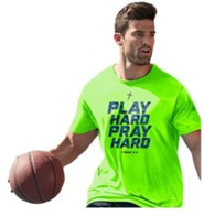 Play Hard, Pray Hard Shirt, Green, Large