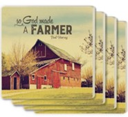 So, God Made A Farmer Coasters, Set of 4
