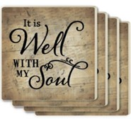 It Is Well With My Soul Coasters, Set of 4