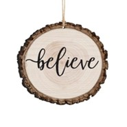 Believe, Bark Ornament