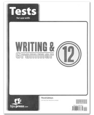 BJU Press Writing & Grammar Tests, Grade 12, 3rd Edition