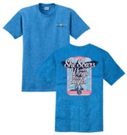 She Soars With Wings Like Eagles Shirt, Blue, Small