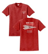 Work Hard, Play Harder, Another Good Day Shirt, Red, Small