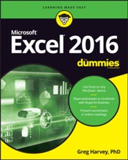 Excel 2016 For Dummies  -     By: Greg Harvey