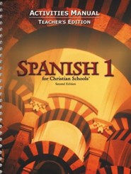 BJU Press Spanish 1 Student Activities Manual, Teacher's Edition