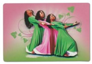 Three Ladies Magnet, Pink and Green