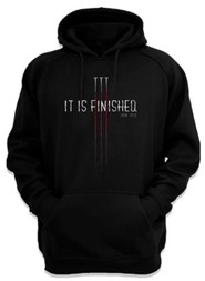 It Is Finished, Hooded Sweatshirt, Black, Large