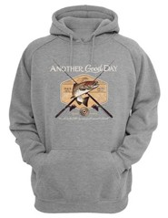 Another Good Day, Hooded Sweatshirt, Gray, Large