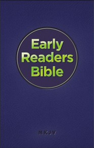 NKJV Early Readers Bible--imitation leather, navy blue