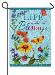 Life Is Filled With Blessings Flag, Mini