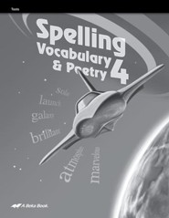 Abeka Spelling, Vocabulary, & Poetry 4 Student Test Book
