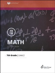 Grade 7 Math LIFEPAC 2: Fractions (Updated Edition)