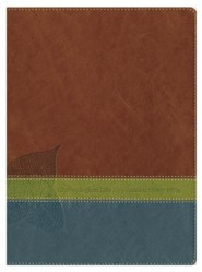 Imitation Leather Brown / Green Book