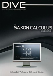 DIVE CD-Rom for Saxon Math Calculus, 2nd Edition