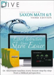 DIVE CD-Rom for Saxon Math 6/5, 3rd Edition