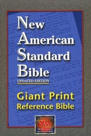 NASB Giant-Print Reference Bible, Burgundy Thumb-Indexed