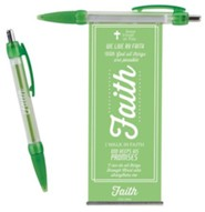 Faith Pull-Out Banner Pen, Green