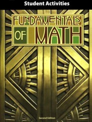 BJU Fundamentals of Math Grade 7 Student Activity Manual,  Second Edition