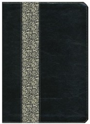 Imitation Leather Black / Cream Large Print Book Red Letter