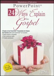 24 Ways to Explain the Gospel - PowerPoint CD-ROM