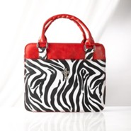 Zebra Print Bible Cover, Red, Medium
