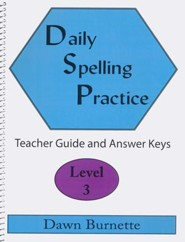 Daily Spelling Practice Level 3 Teacher Guide