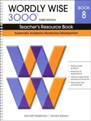 Wordly Wise 3000 Teacher's Resource Book 8, 3rd Edition  (Homeschool Edition)
