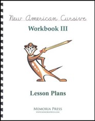 New American Cursive 3 Lesson Plans