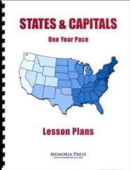 States & Capitals 1 Year Pace Lesson Plans