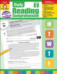 Daily Reading Comprehension, Grade 8 (2018 Revision)