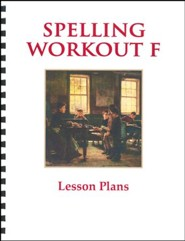 Spelling Workout F Lesson Plans