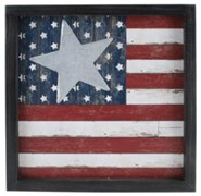 American Flag Wall Sign with Star