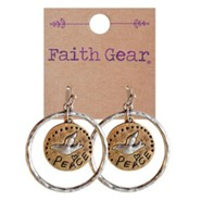 Peace, Dove, Earrings