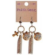 Faith Hope Love, Cross Earrings